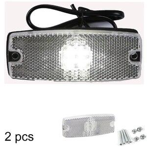 Image 1 - AOHEWEI 10 30 V ECE approbation LED blanc côté marqueur lumière indicateur lampe avec réflecteur pour remorque camion camion RV caravane