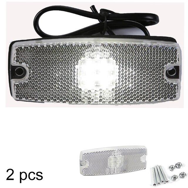 AOHEWEI 10 30 V ECE approbation LED blanc côté marqueur lumière indicateur lampe avec réflecteur pour remorque camion camion RV caravane