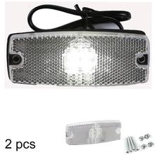 AOHEWEI 10 30 V aprobación ECE LED luz indicadora de luz lateral blanca con reflector para camión de remolque RV caravana