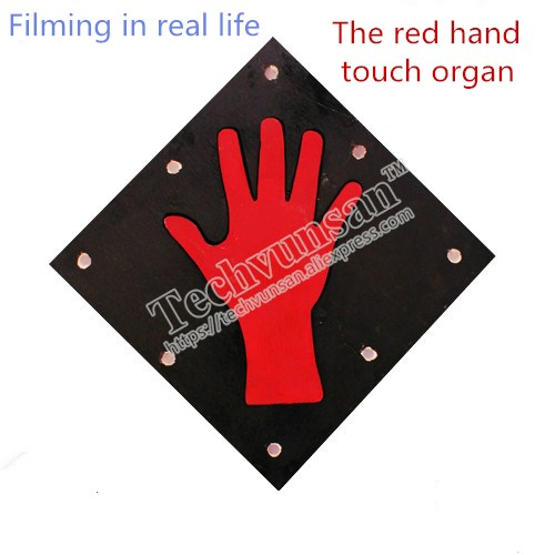 Takagism adventure game Red hand touch Human induction real life human chamber room escape prop live secret Pure handmade