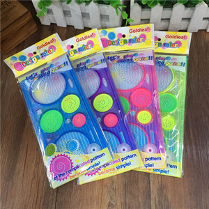 Cute Plastic Spirograph Ruler Kawaii Circle Template For Kids Drawing Gift Korean Stationery Student 1630