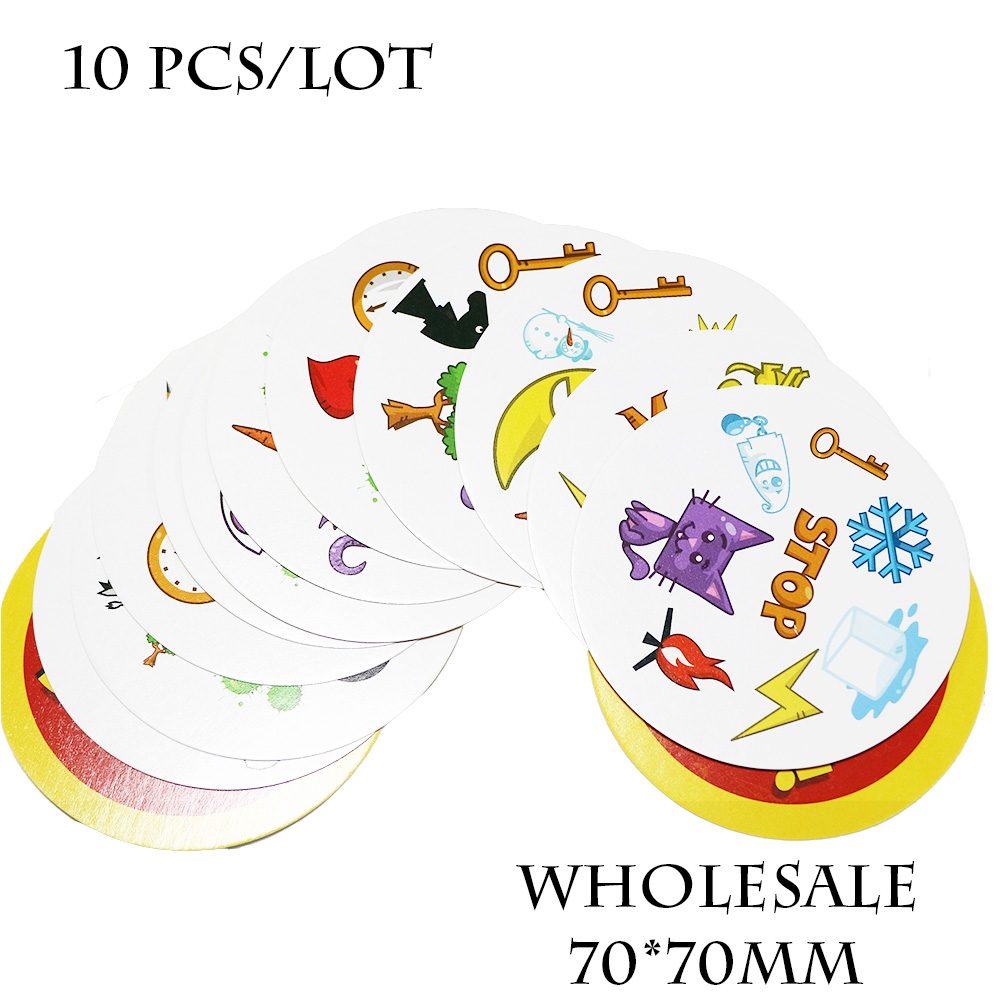 10 Pcs/ Lot Spot Card Game 70 Mm Playing Cards For Kids Like It Family Party Nursery School Education Board Games For Wholesale