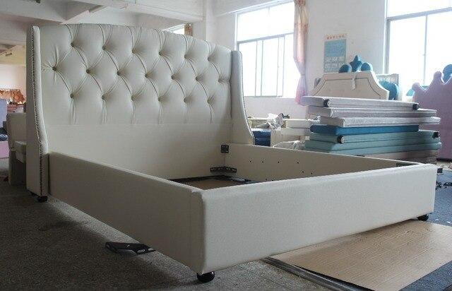 blanc en cuir meubles de maison dubai tissu lit de prince style pour royale et noble