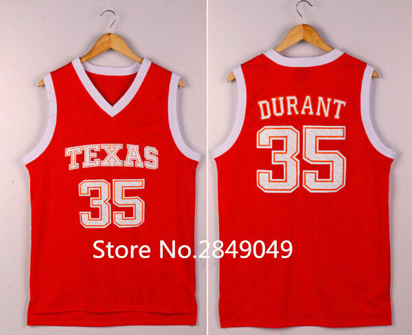 cheap for discount 8e832 2838d Kevin Durant Texas College Basketball Jersey Embroidery Stitched Customize  any size and name-in Basketball Jerseys from Sports & Entertainment on ...