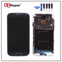 I9505 Lcd Blue For Samsung Galaxy S4 I9505 LCD Display Touch Screen Digitizer Full Assembly Bezel