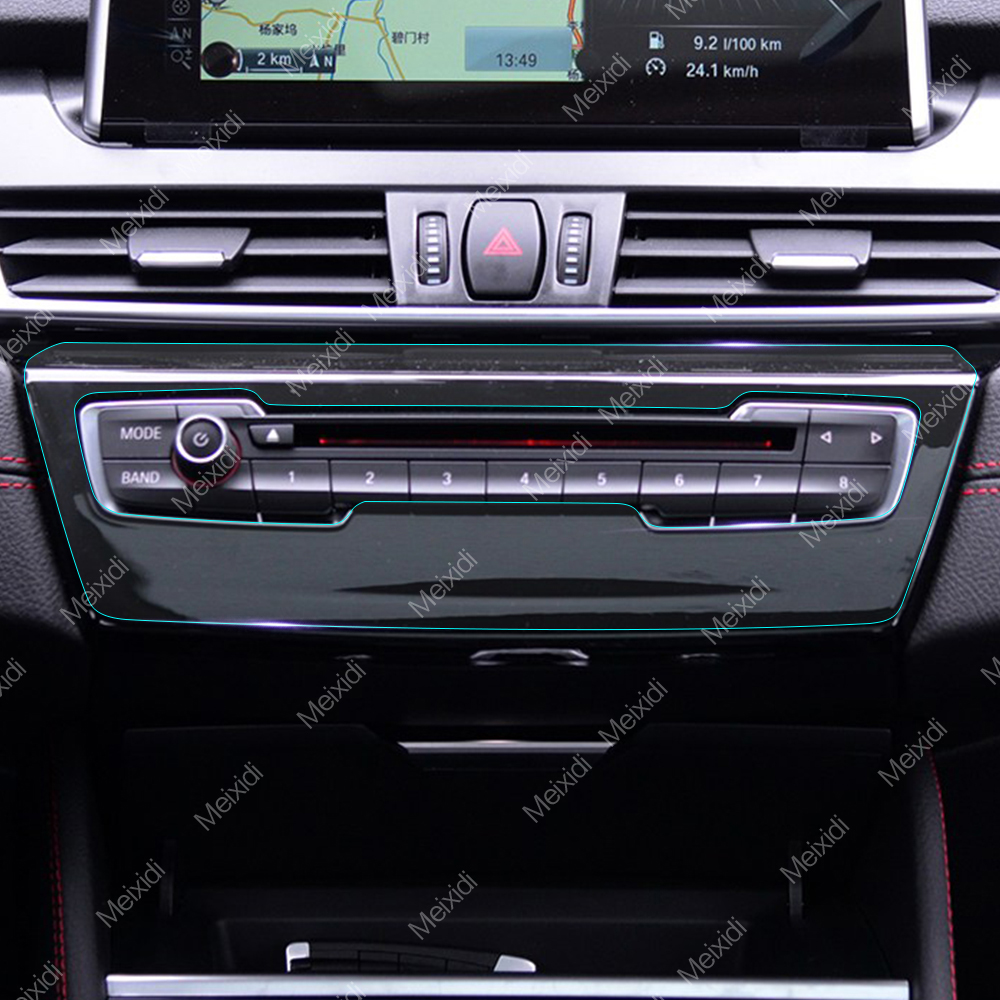 Car interior center control gear panel transparent - Automotive interior protective film ...