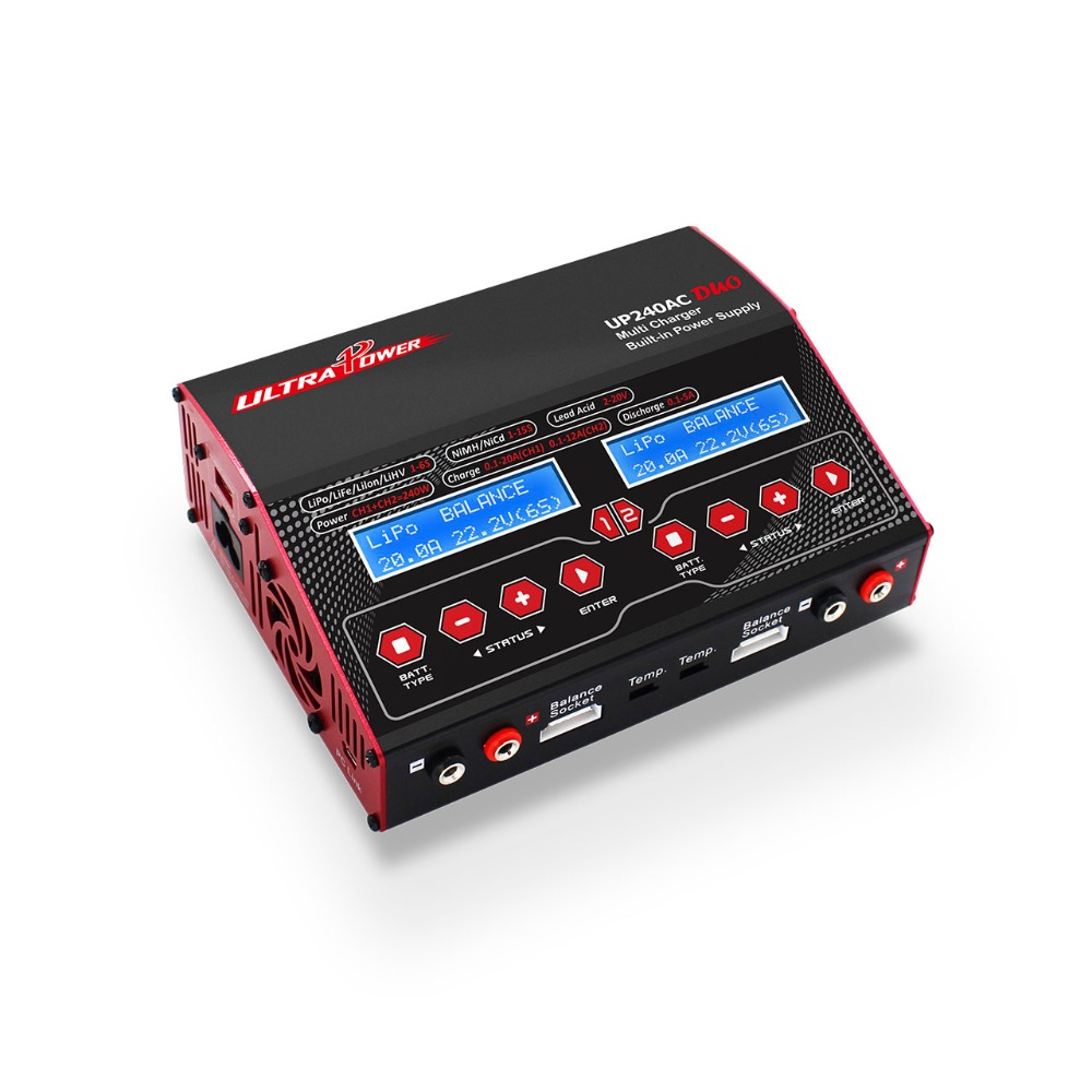 Ultra Power UP240AC DUO 240W Lipo / Lead / Nickel Battery Balance Charger for RC Model