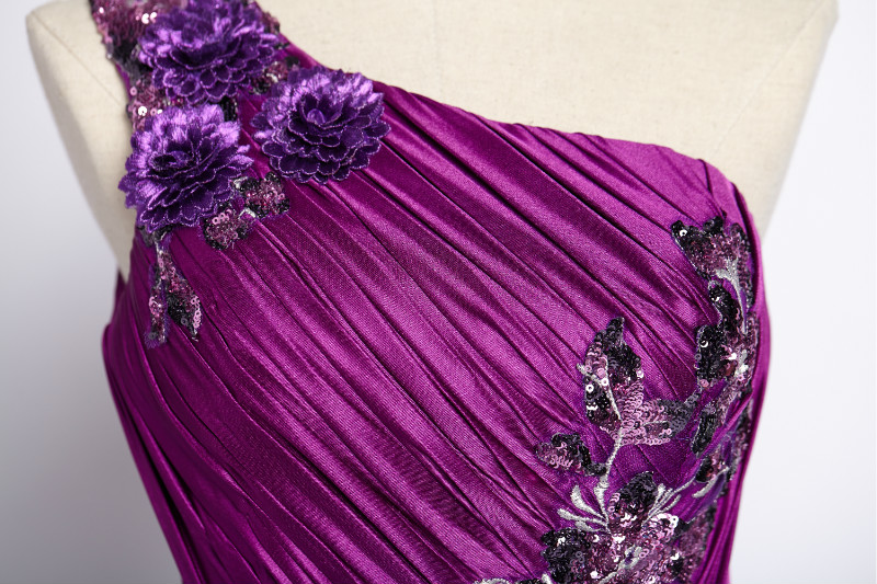 W.JOLI 2017 Perlage Appliques Longue Robe De Soirée Mariée Banquet - Habillez-vous pour des occasions spéciales - Photo 4
