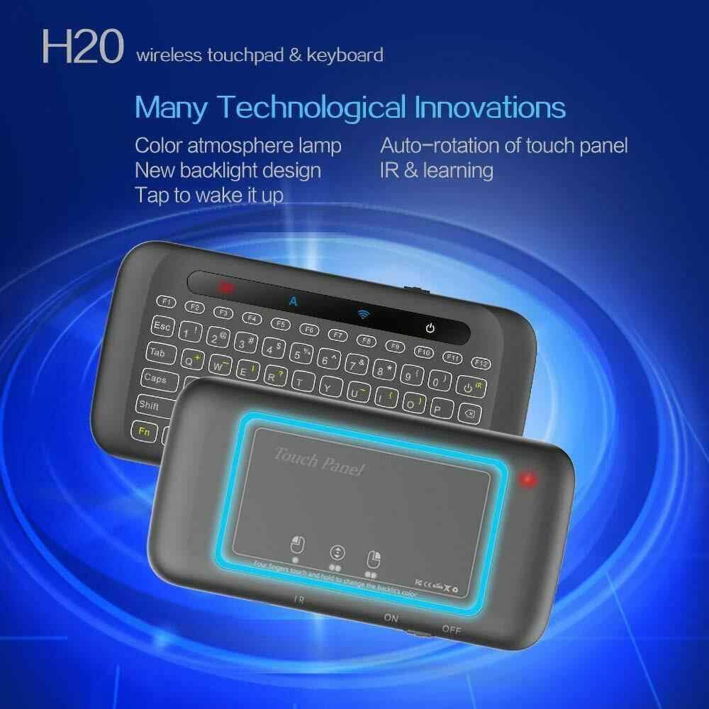 Dsstyles Mini Keyboard Nirkabel Portabel Touchpad untuk Android Smart TV Box PC Desktop