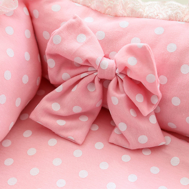 Online Shop Pink Princess Cute Dog Bed For Small Dogs Winter Warm