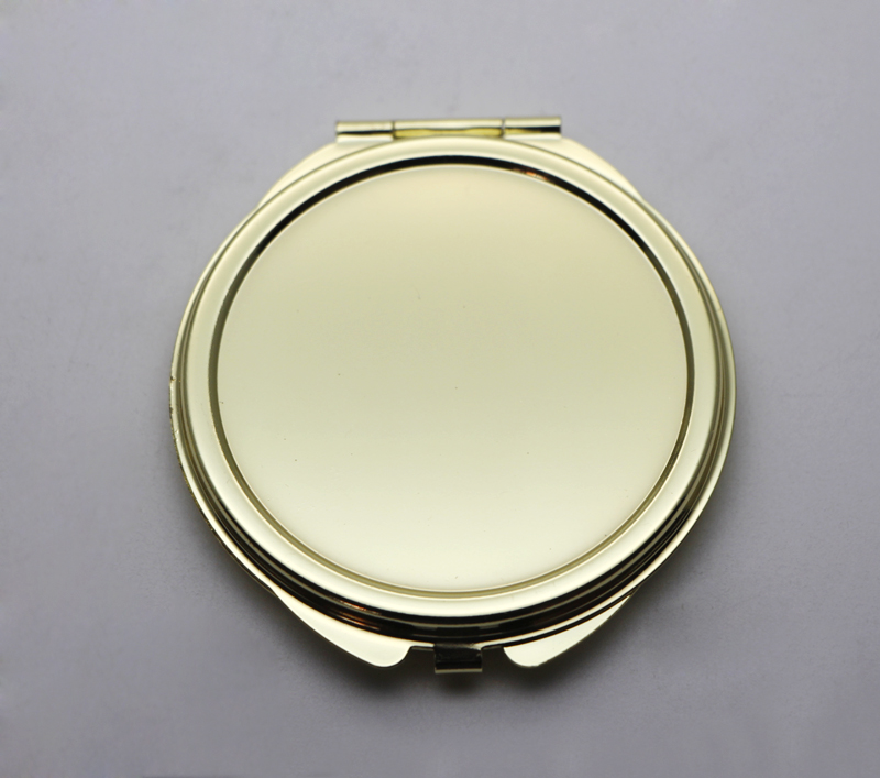 Gold Small Compact Mirror Round Lady handbag Mirrors Can Be Logo Compact Mirror
