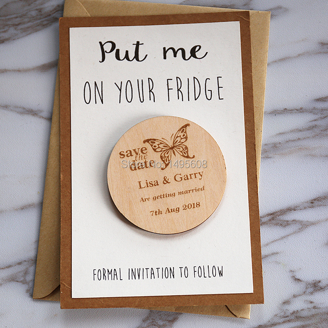 Erfly Stlyes Wedding Save The Date Magnets Personalized Elegant Invitation Favors