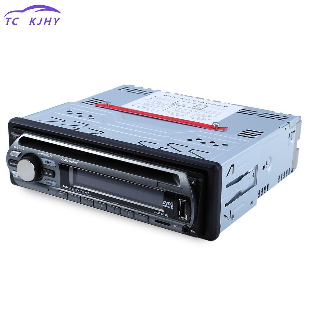 2018 Auto voiture lecteur Mp3 12 v 52 w voiture Audio stéréo Fm Support Usb Sd Dvd lecteur Mp3 Aux avec télécommande Auto modulateur Fm