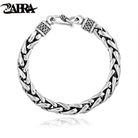 Skills And Old Silversmith 925 Silver Bracelet With Male Retro Fashion Silver Bracelet Tide Weaving Domineering