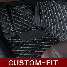 Обычай автомобиль коврики для Toyota Land Cruiser 200 горец Camry Prado RAV4 ног чехол стайлинга автомобилей ковер вкладыши ( 2007 — )