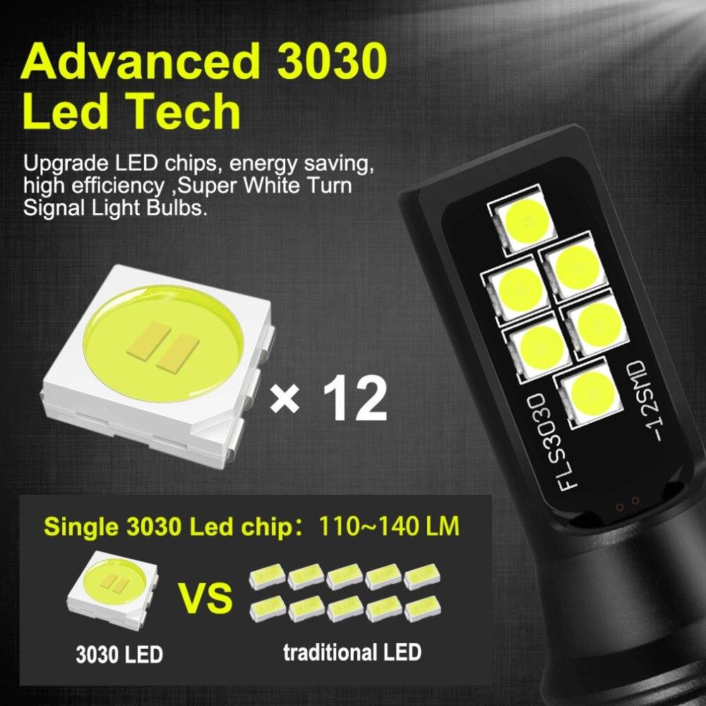 2 шт. H7 светодиодный потолочный светильник супер яркий 12 3030SMD Противотуманные фары автомобиля 12V 24V 6000K белый, вождения, бега, светодиодный H7 лампы для Авто автомобильная
