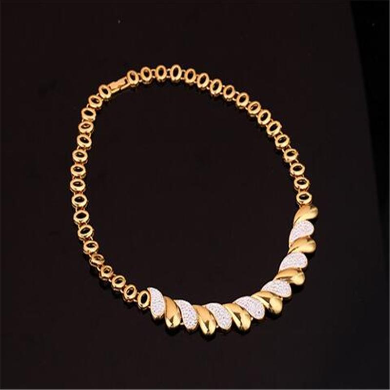 4 - Nouveaux Ensembles De Bijoux Africains Or, Collier Boucles D'oreilles Bracelet Anneau Femmes,