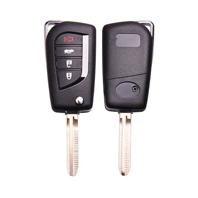 4D67 Keyecu Upgraded Flip Remote Car Key Fob for Toyota Camry 2007-2010 FCC:HYQ12BBY