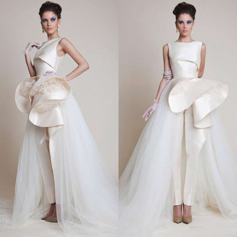 Fashion Design Saudi Arabia Chic   Prom     Dresses   2019 Gothic Draped Peplum Satin and Tulle Unique   Prom   Gowns Beige Floor Length