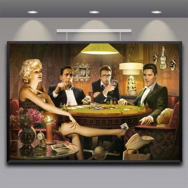 James Dean Marilyn Monroe, Elvis Presley Poster Home Decor