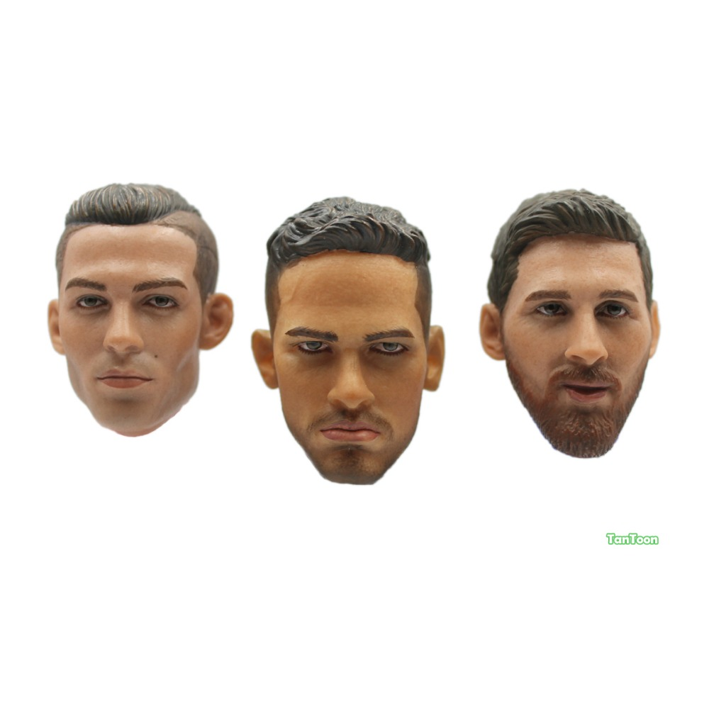 1/6 Scale Figurine Player Dolls Head RONALDO&NEYMAR With Accessories