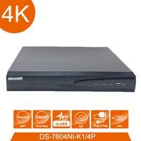 Сетевой видеомагнитофон Hik vision DS 7604ni K1/4 P 4 POE порты 4 к 4ch plug & play NVR с инжектором POE заменить DS 7604NI E1/4 P