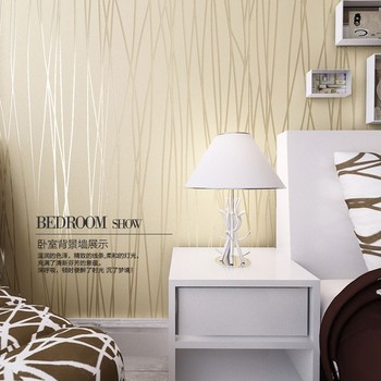 Modern wall paper flocking non-woven wallpaper living room decoration wall paper