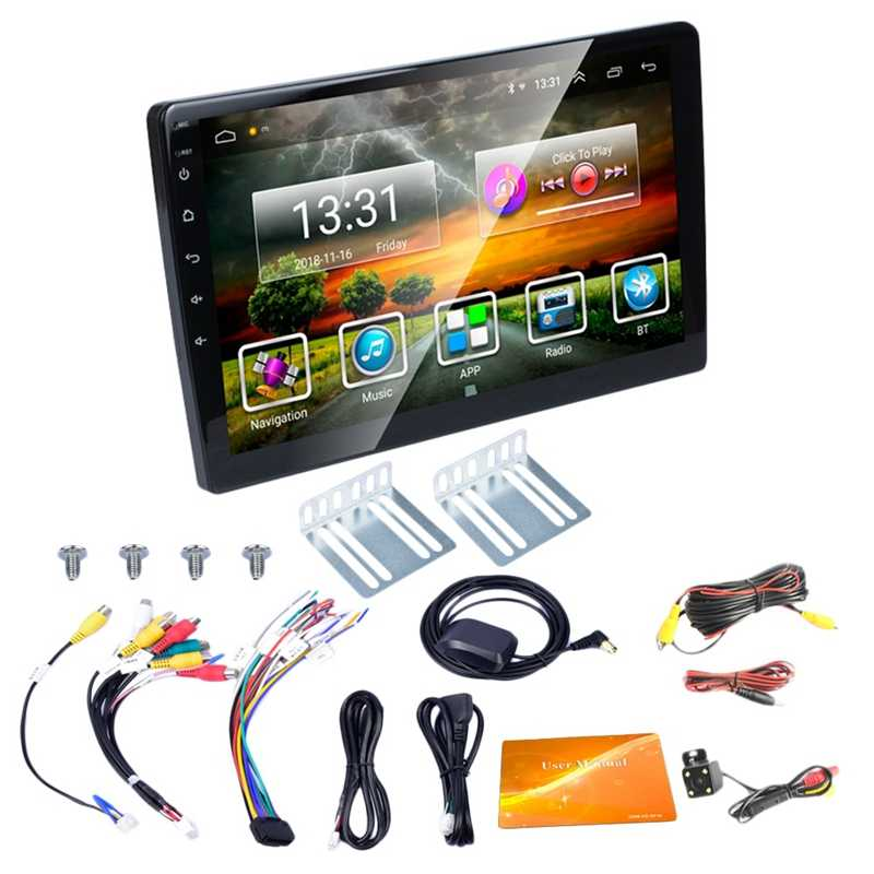 2 DIN Mobil Radio 10.1 Inci HD Mobil Mp5 Multimedia Player Android 8.1 Mobil Radio GPS Navigasi WIFI Bluetooth