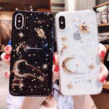Shinning Glitter Bulan Planet Soft Case untuk OPPO F5 F7 F9 R17 Pro A73 A57 A59 A83 A3 A5 A7 a79 R9 R9S R11 R11S Plus Cover Coque(China)
