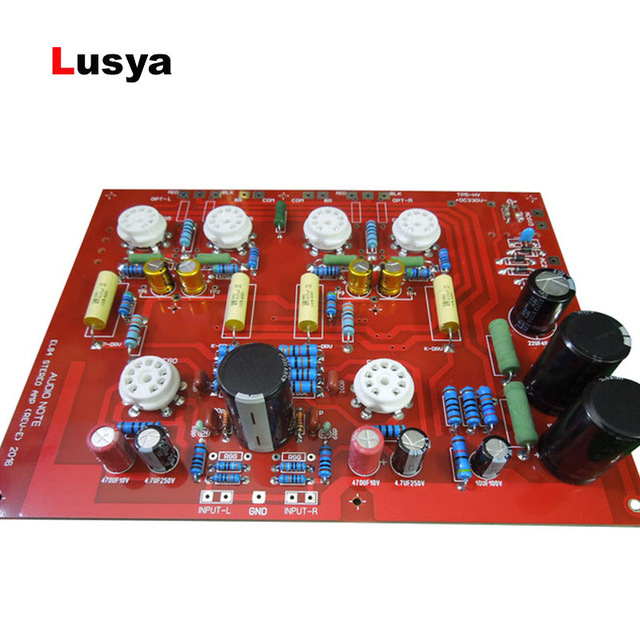US $32 98 29% OFF|Hi End Stereo Push Pull EL84 Vaccum Tube Amplifier PCB  DIY Kit AUDIONOTE PP Circuit with capacitance D4 004-in Replacement Parts &