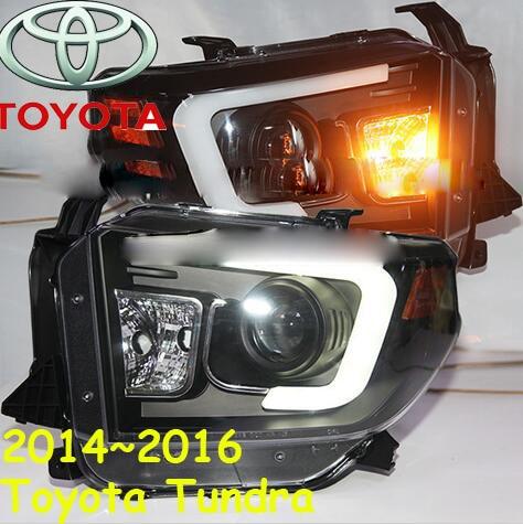 Tundra headlight,2014~2016,(lhd,if rhd need add 200usd),free ship! tundra fog light,2ps/set+2pcs aozo