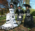 19 siglo blanco Civil vestido Belle guerra sur victoriano vestidos Lolita / scarlett vestido US6-26 V-2443