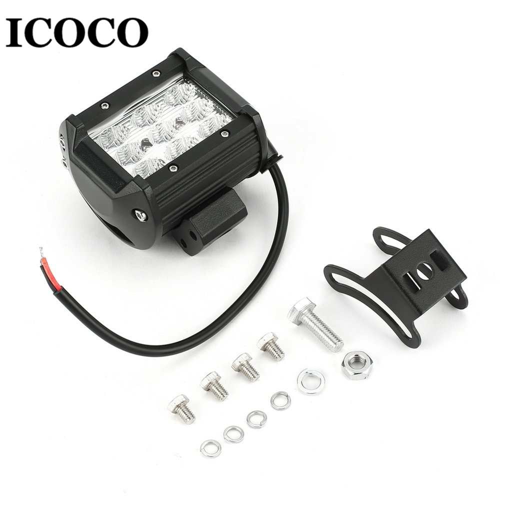 ICOCO 27W 9pcs*3W LEDs Car Working Light Headlight Spotlight/Flood light Working Light Lamp for Universal 12V Vehicle