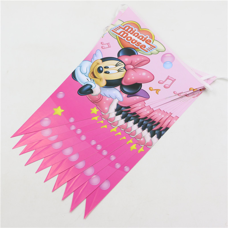 Minnie Mouse Baby Shower Party Favors: Decoration Pennats Kid Favors Baby Shower Party Banners