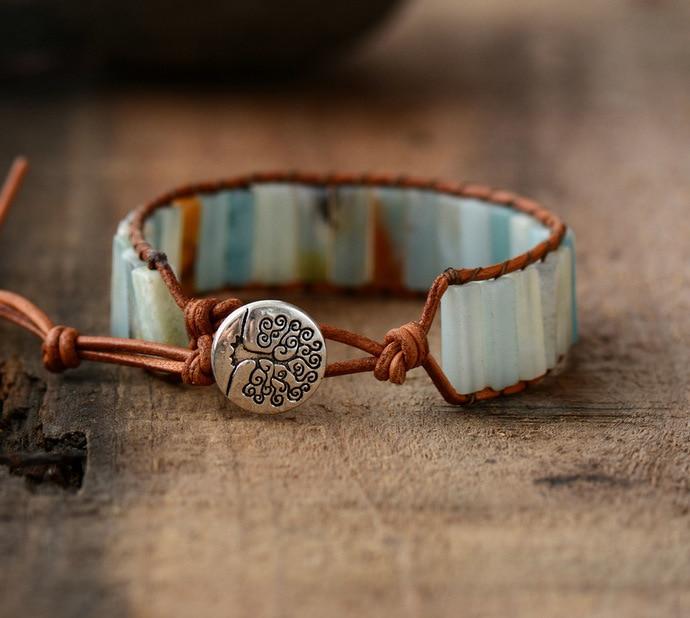 Bracelet en pierre naturelle d'Amazonite pas cher | oko oko