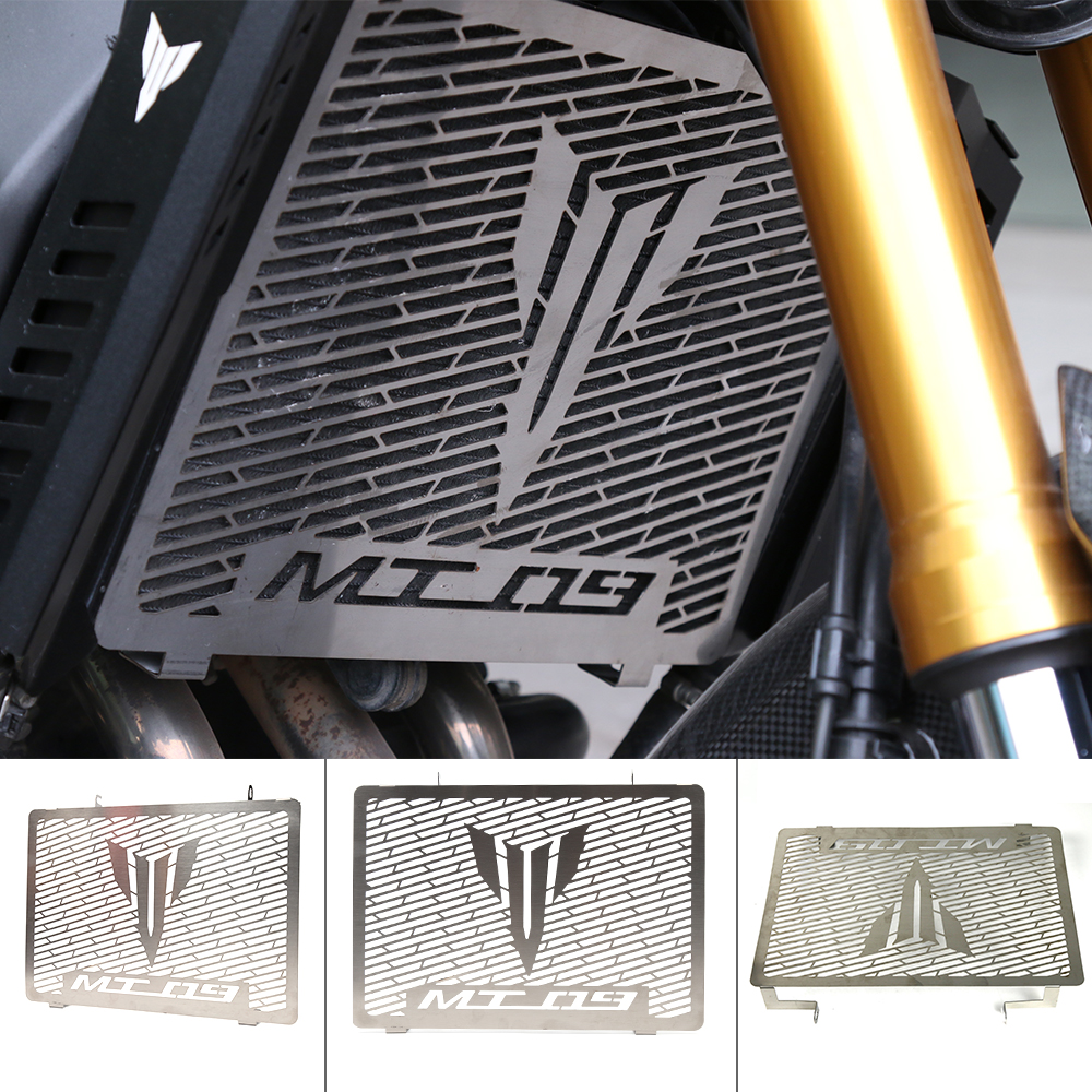 For Yamaha MT-09 MT 09 MT09 FZ09 FZ 09 FZ-09 2014 2015 2016 2017 Motorcycle Accessories Radiator Grille Guard Cover Protector motorcycle accessories cnc aluminum black radiator side grille guard cover for yamaha mt09 2015 2016