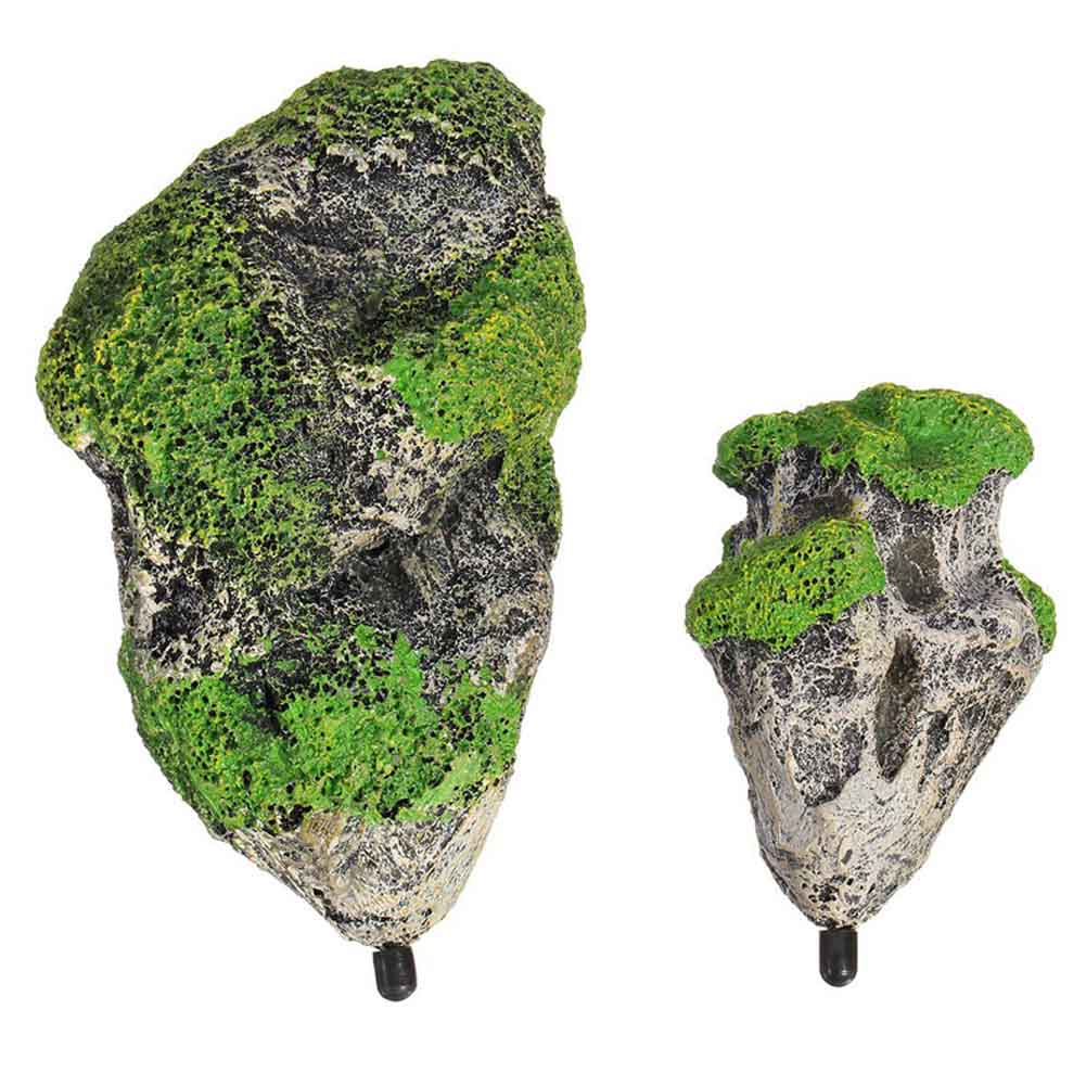 Artificial floating rock aquarium decoration water plants for Artificial fish pond plants