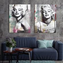 Картина на холсте настенная художественная напечатанная картина Мэрилин Монро на холсте домашний декоративный плакат на стену украшение для гостиной без рамки