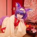 High Quality NO GAME NO LIFE Hatsuse Izuna Purple Straight Short Cosplay Costume Wig Free Shipping