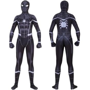 Costume Cosplay SpiderMan noir Zentai Spider homme body super-héros combinaisons