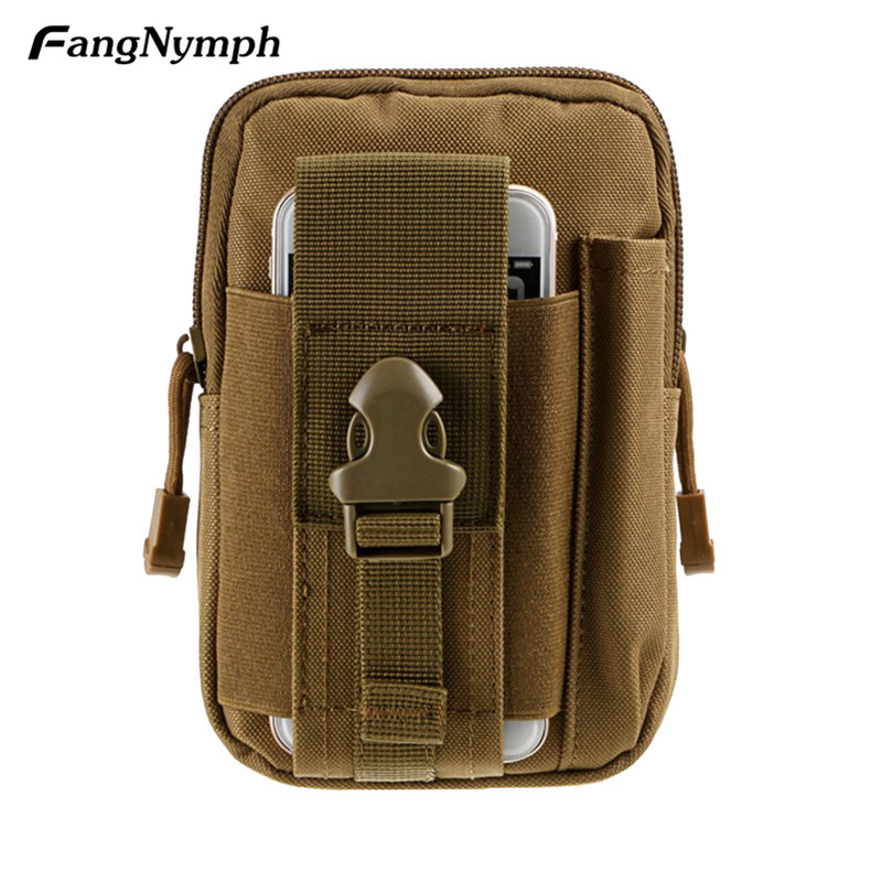 FangNymph 2018 New Soft Back Pouch Belt Waist Pack Bag Small Pocket Army Waist Pack Pouch Travel Bags