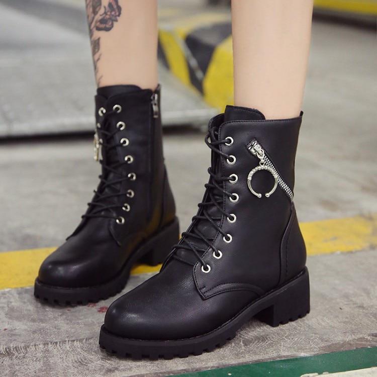 3cbe8f28267a04 Botas Cheville D'hiver Noir Chaussures Pour Botines Bottes 2018 Courtes Femme  Mujer Laarzen Femmes Dames wITx6dq8q