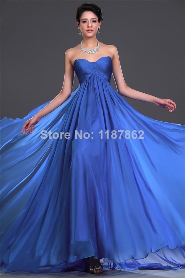ED 0371 Royal Blue Dress Vestido Longo Long Evening DressSummer ...
