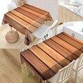 Большой размер на заказ деревянная Современная Пылезащитная скатерть Высокое качество печать скатерть все для дома и кухни
