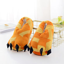 e0bcd742106 New Dinosaur Character Lounge Unisex Pajamas Costume Shoes Cartoon Animal  Paw Claw Home Warm Indoor Winter Slippers