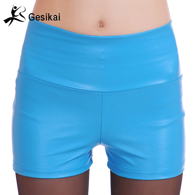 Womens Faux Leather Tight PU Shorts EU Fashion High Waist Shorts WORK OUT Sexy Short