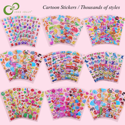 10 Sheets/Lot 3D Puffy Bubble Stickers Cartoon Princess Cars Animals Waterpoof DIY baby Toys for Children Kids Boy Girl GYH