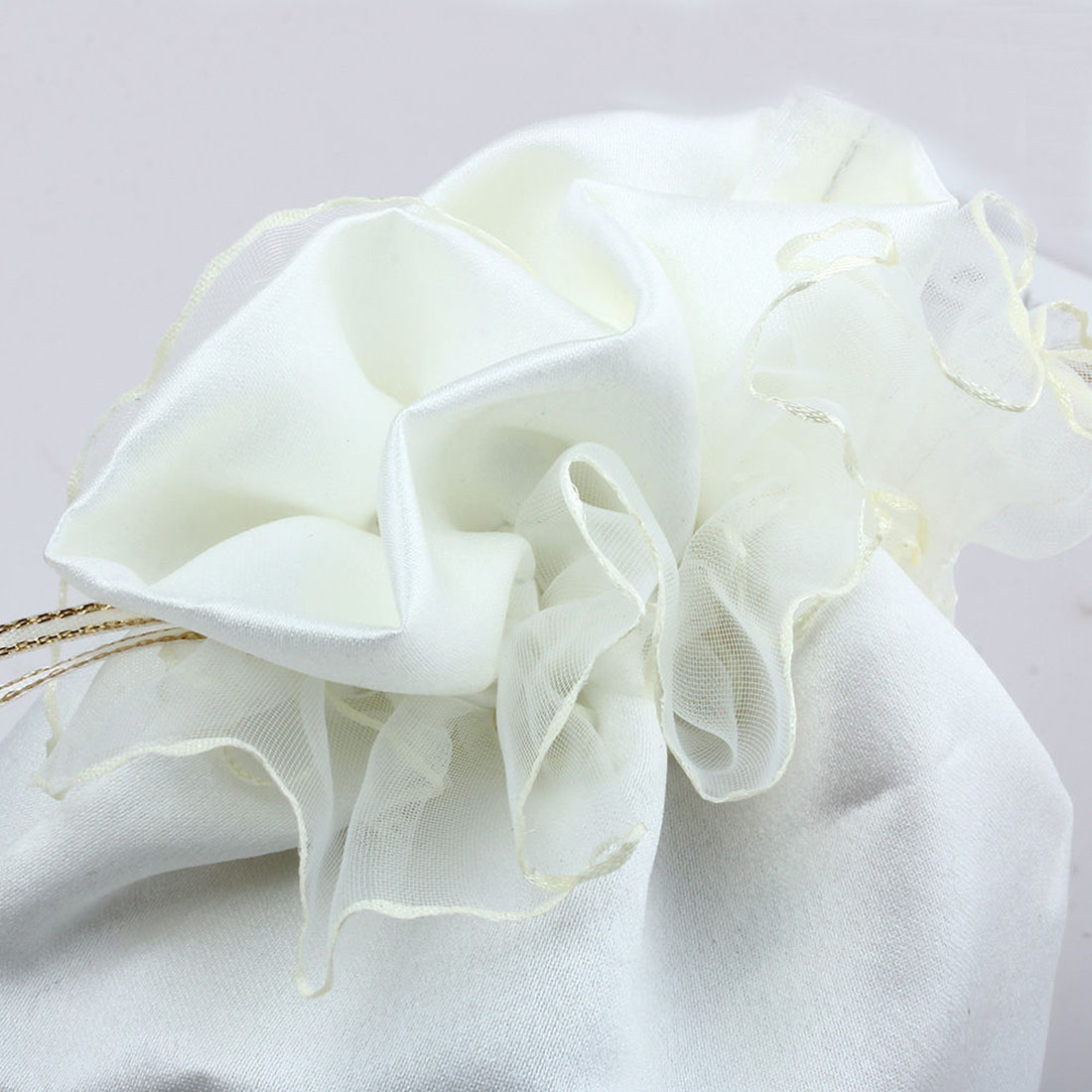 43b1d377b954 Fashion Beautiful Ivory White Satin Wedding Bride Bridesmaid Dolly Candy  Bag High Quality Handbag Wholesale-in Gift Bags   Wrapping Supplies from  Home ...