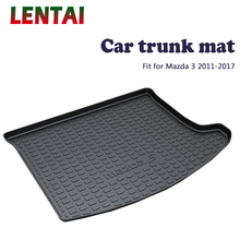 EALEN 1PC rear trunk Cargo mat For Mazda 3 2011 2012 2013 2014 2015 2016 2017 Styling Boot Liner Tray Anti-slip mat Accessories trunk mat for chevrolet cobalt 2013 2015 trunk floor rugs non slip polyurethane dirt protection interior trunk car styling