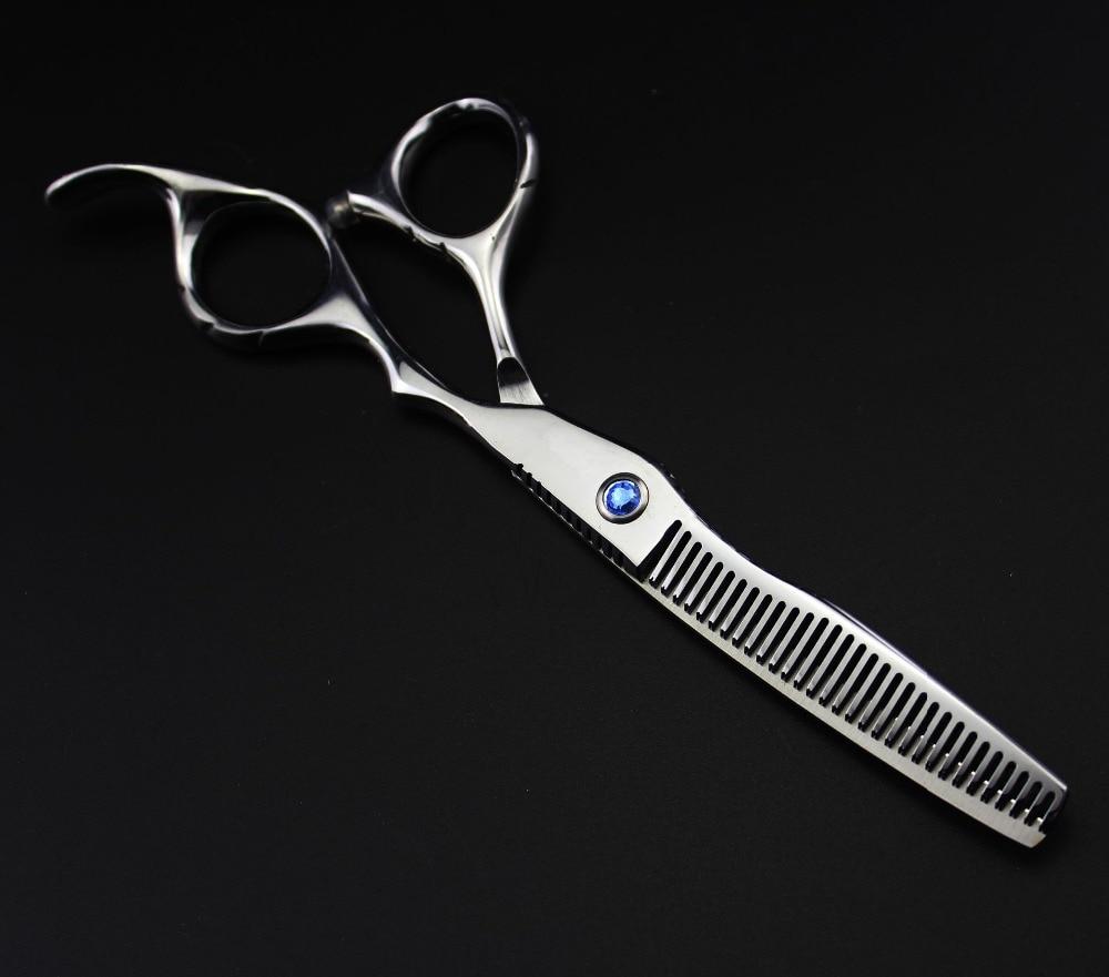profesjonell 6 tommers 440c 6cr13 kutt hår saks sett skjære - Hårpleie og styling - Bilde 3